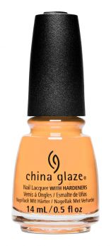 bottle of China Glaze Tangerine Heat creamy orange nail lacquer