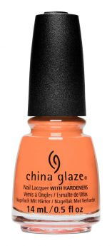 bottle of China Glaze Sunny You Should Ask orange nail lacquer