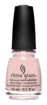bottle of China Glaze i'm no tourist nude nail lacquer