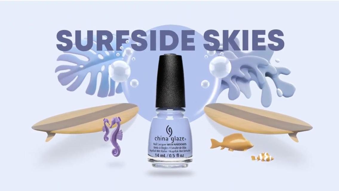 China Glaze Surfside Skies Cali Dream Collection