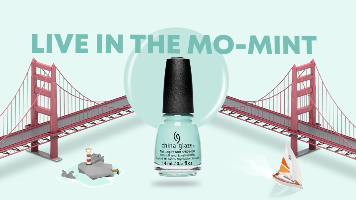 China Glaze Live In The Mo-Mint Cali Dream Collection
